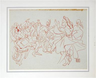 Al Hirschfeld - Stompin' at the Savoy
