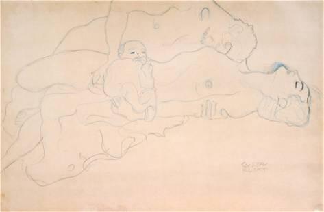 Gustav Klimt (After) - Family Love (Liegendes