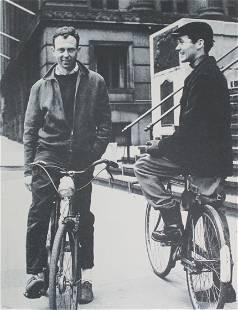 Robert Indiana - Portrait on a Bike