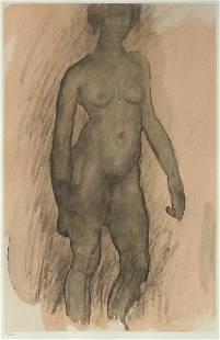 Auguste Rodin - Aquarelle XII