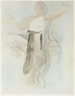 Auguste Rodin - Aquarelle VIII