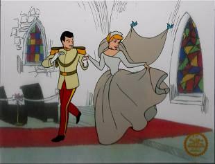 Disney - Cinderella & Prince Charming Serigraph Cel