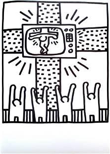 Keith Haring - TV Crucifix (from Lucio Amelio Suite)