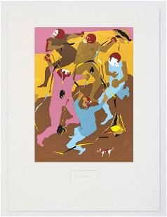 Jacob Lawrence - Hiroshima VI with signature attached