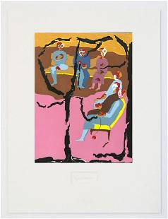 Jacob Lawrence - Hiroshima III with signature attached