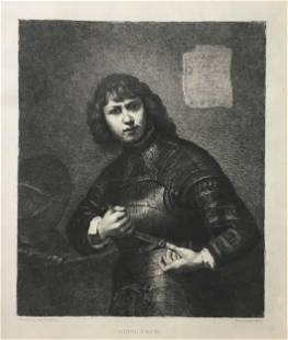 Ferdinand Leenhoff after Rembrandt - Young Man in