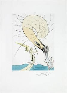 Salvador Dali - Freud with a Snail's Head