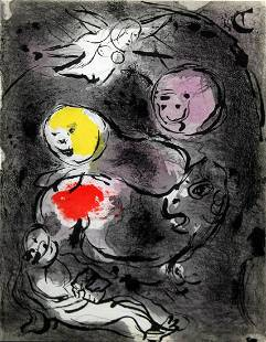 Marc Chagall - Daniel in the Lion's Den