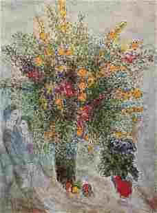 Marc Chagall - Fleurs dans la Lumiere