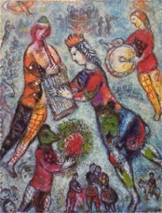 Marc Chagall - La Musicienne