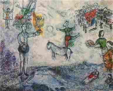 Marc Chagall - Paysage de Paris