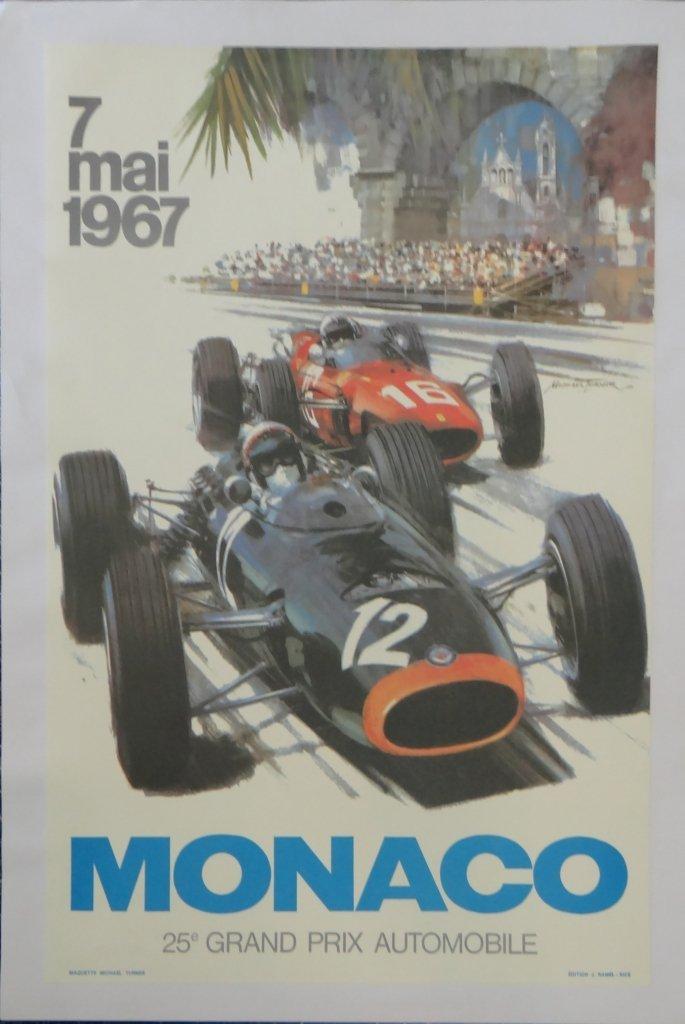 "1: ""Monaco"" Vintage Poster"