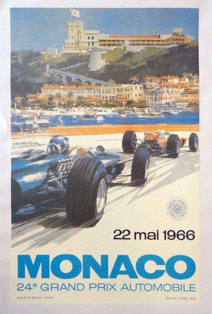 "2: ""Monaco"" Vintage Poster"
