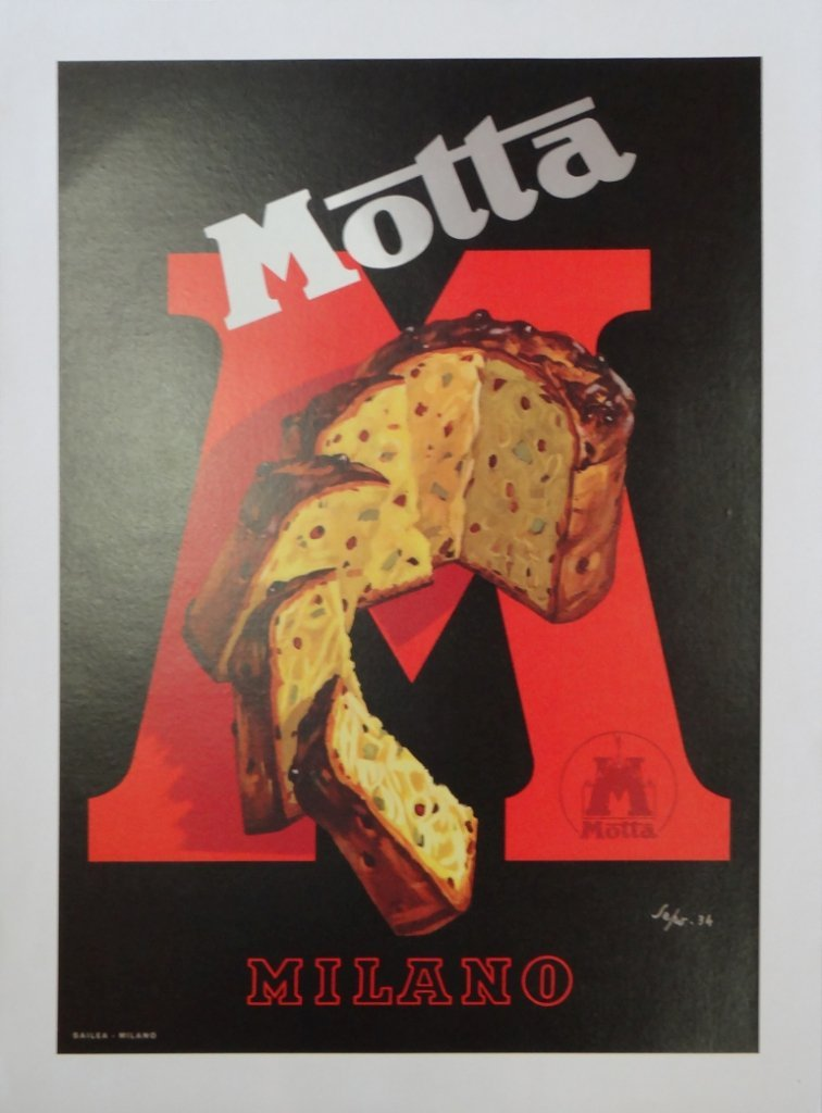 "8: ""Motta"" Vintage Poster"