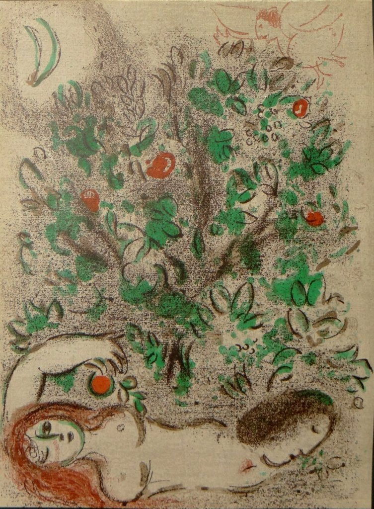 """16: Marc Chagall - """"Paradise"""" from Drawings for the Bib"""