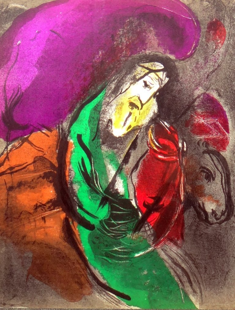 """17: Marc Chagall - """"Jeremiah"""" from the Bible Lithograph"""