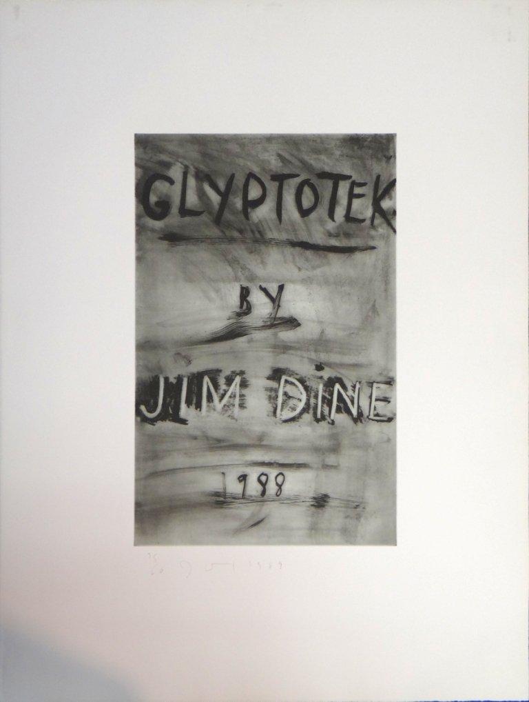 "18: Jim Dine - frontispiece from ""Glyptotek"" portfolio"