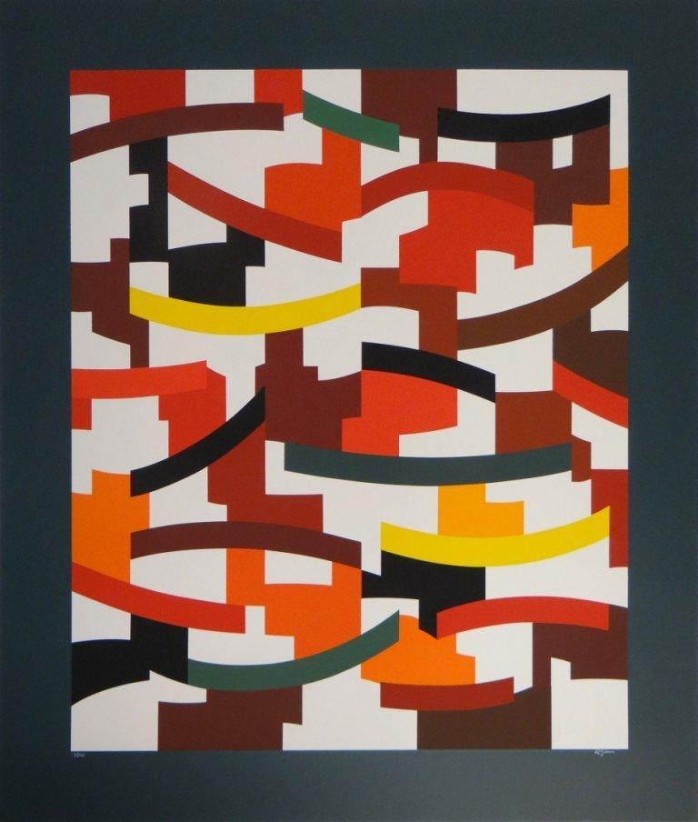 21: Yaacov Agam - Untitled Abstract
