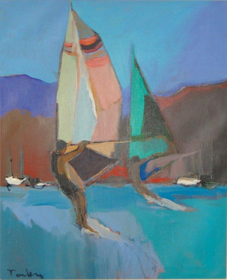"""175: Itzchak Tarkay - """"Wind Surfing"""""""