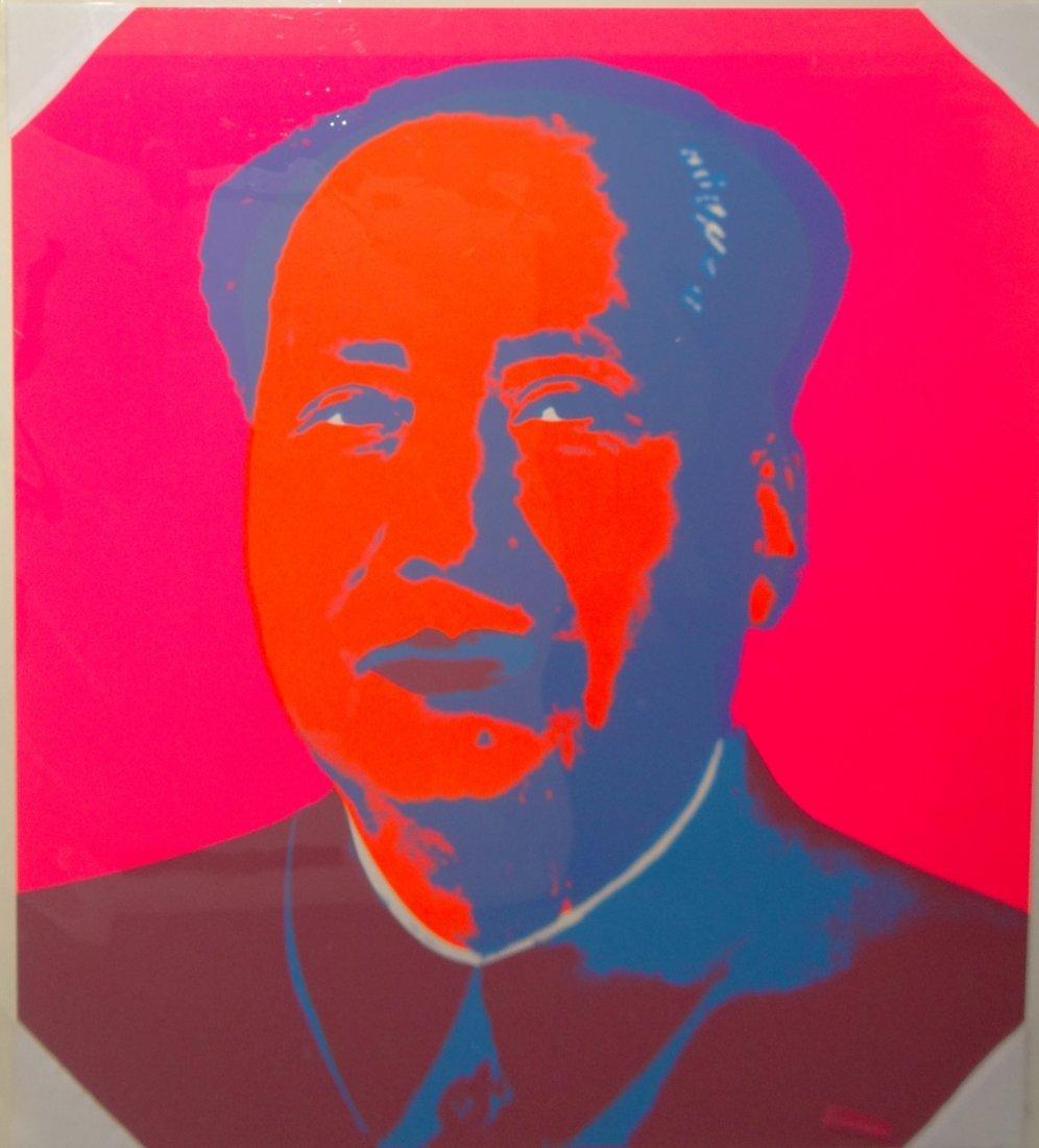 "Andy Warhol ""Mao"" Sunday B Morning silkscreen"