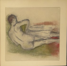 "Edgar Degas lithograph from ""Danse Dessin"""