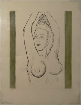 "Man Ray ""Sonia"" etching with aquatint"