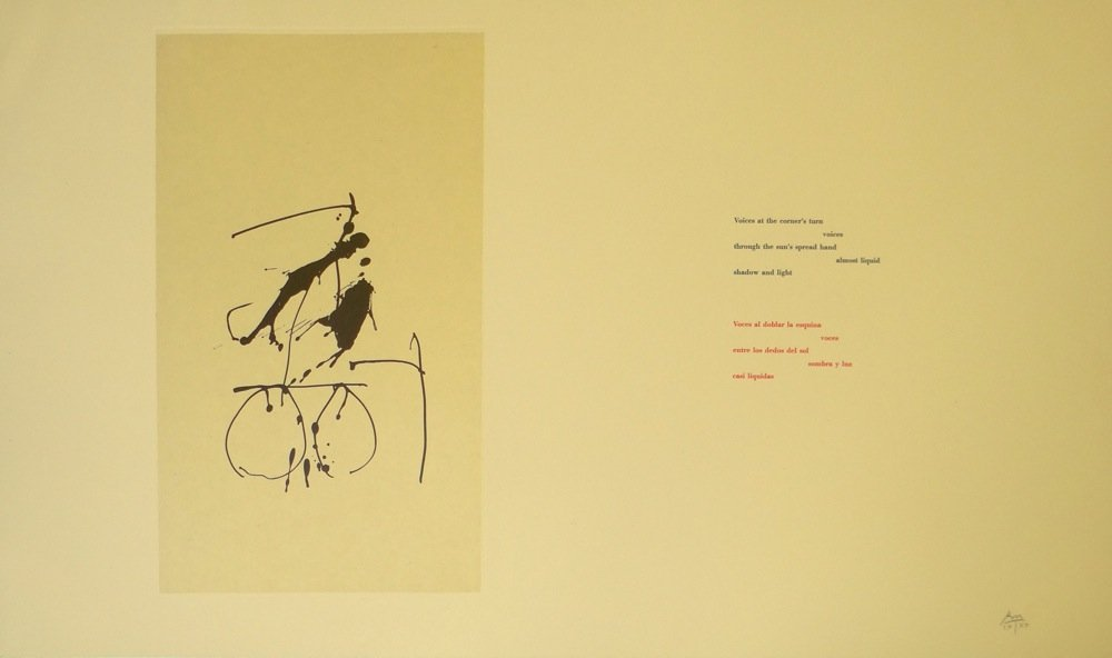 "Robert Motherwell ""Nocturne II"" lithograph"