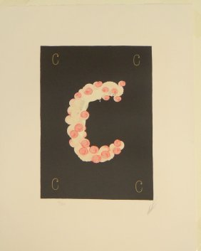 "Erte ""Letter C"" serigraph from Alphabet Suite"