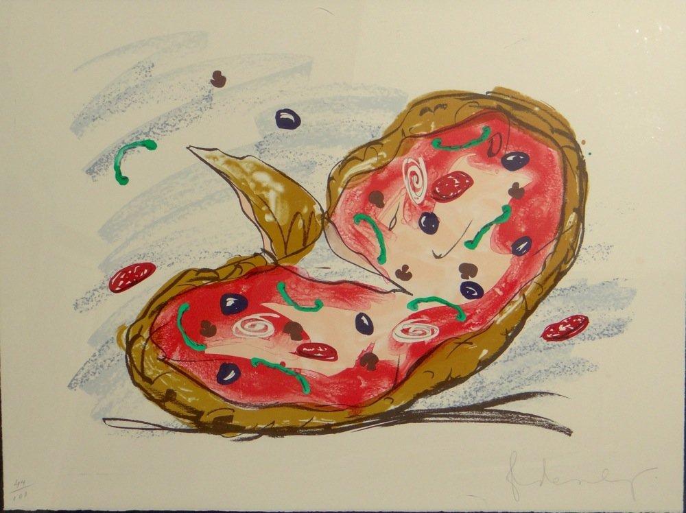 """Claes Oldenburg """"Pizza Palette"""" lithograph"""