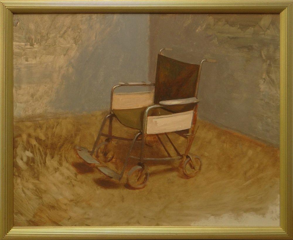 """Bo Bartlett - """"Wheelchair"""" oil on linen"""