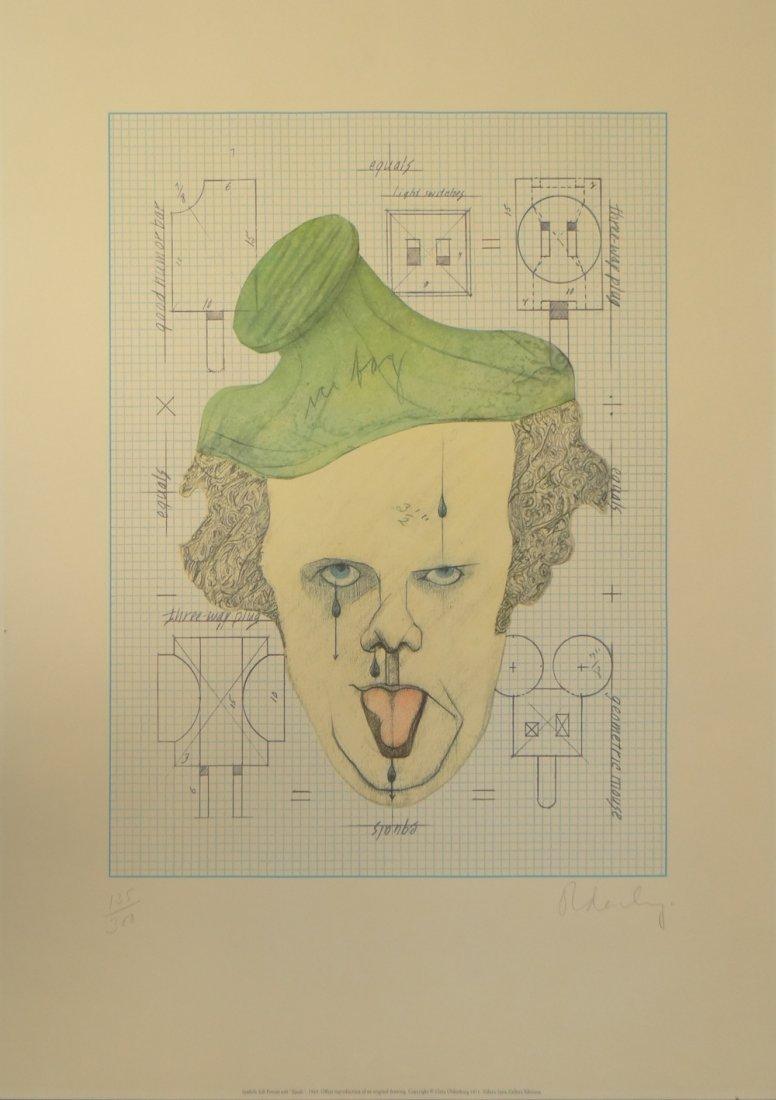"""Claes Oldenburg """"Symbolic Self-Portrait with 'Equals'"""""""