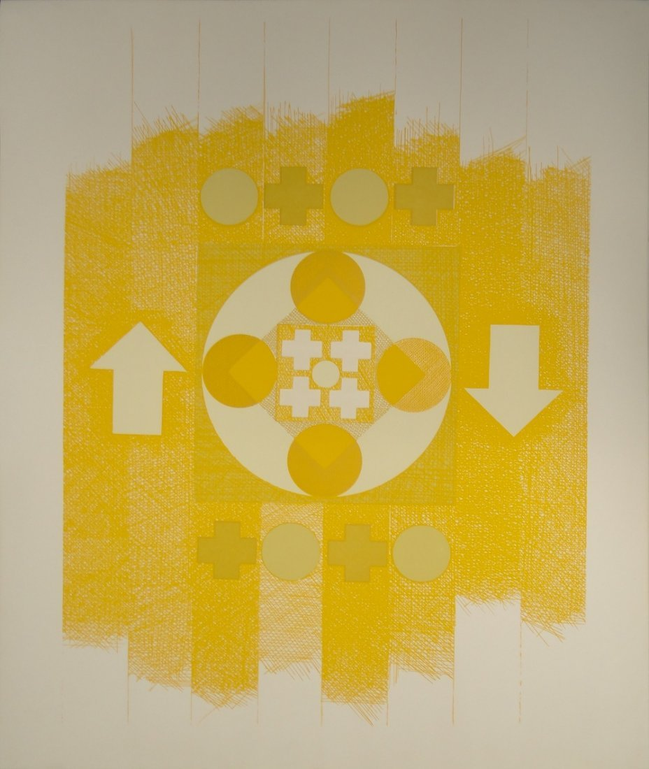 George Ortman Untitled serigraph from Ten Works by Ten