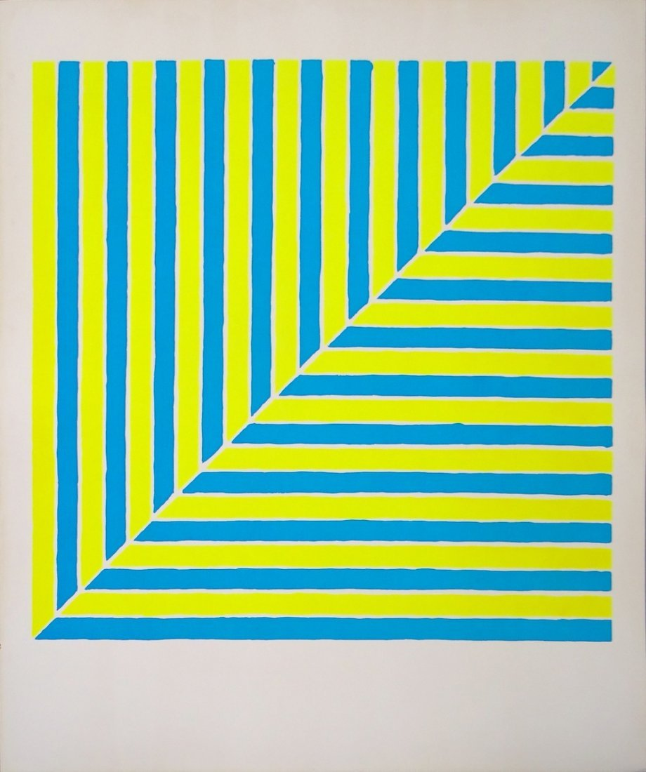 Frank Stella Untitled serigraph from Ten Works by Ten P
