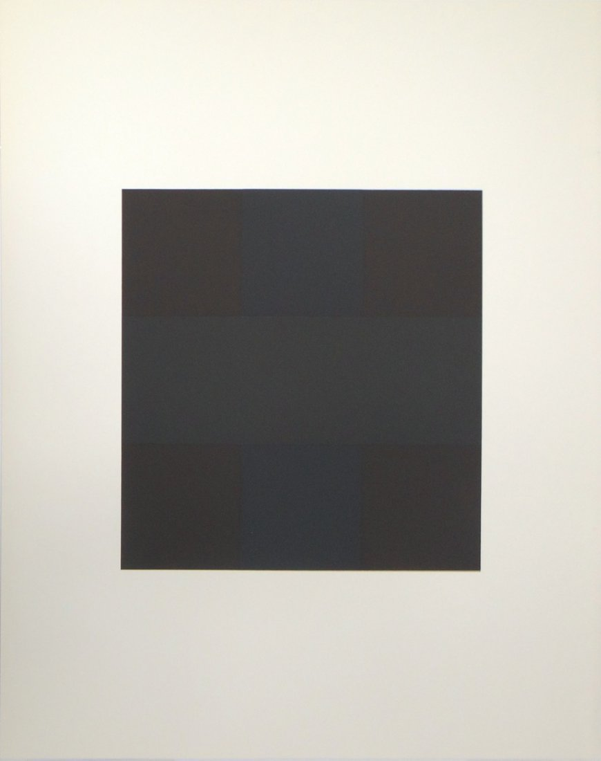 Ad Reinhardt Untitled serigraph from Ten Works by Ten P