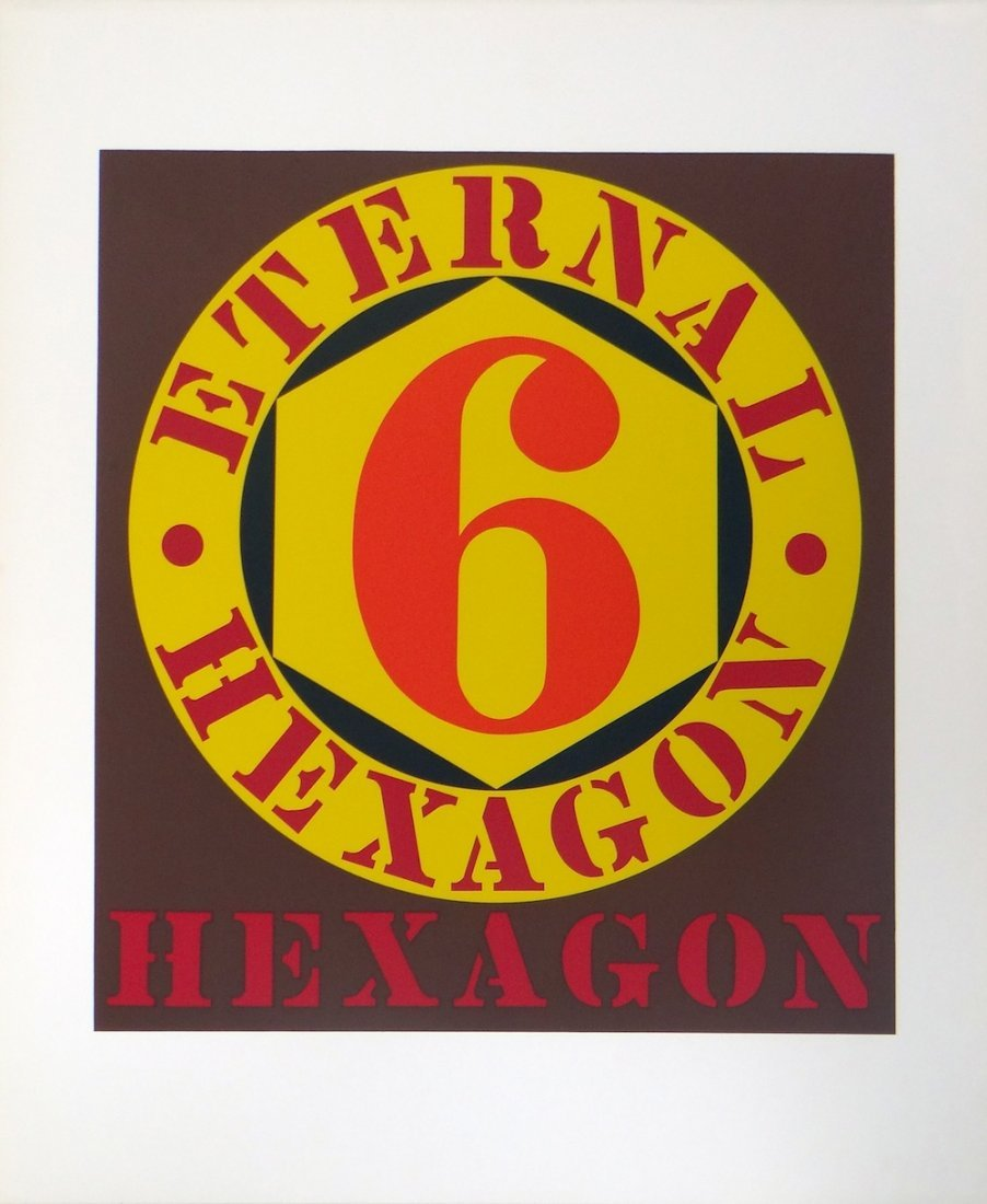 Robert Indiana Untitled serigraph from Ten Works by Ten