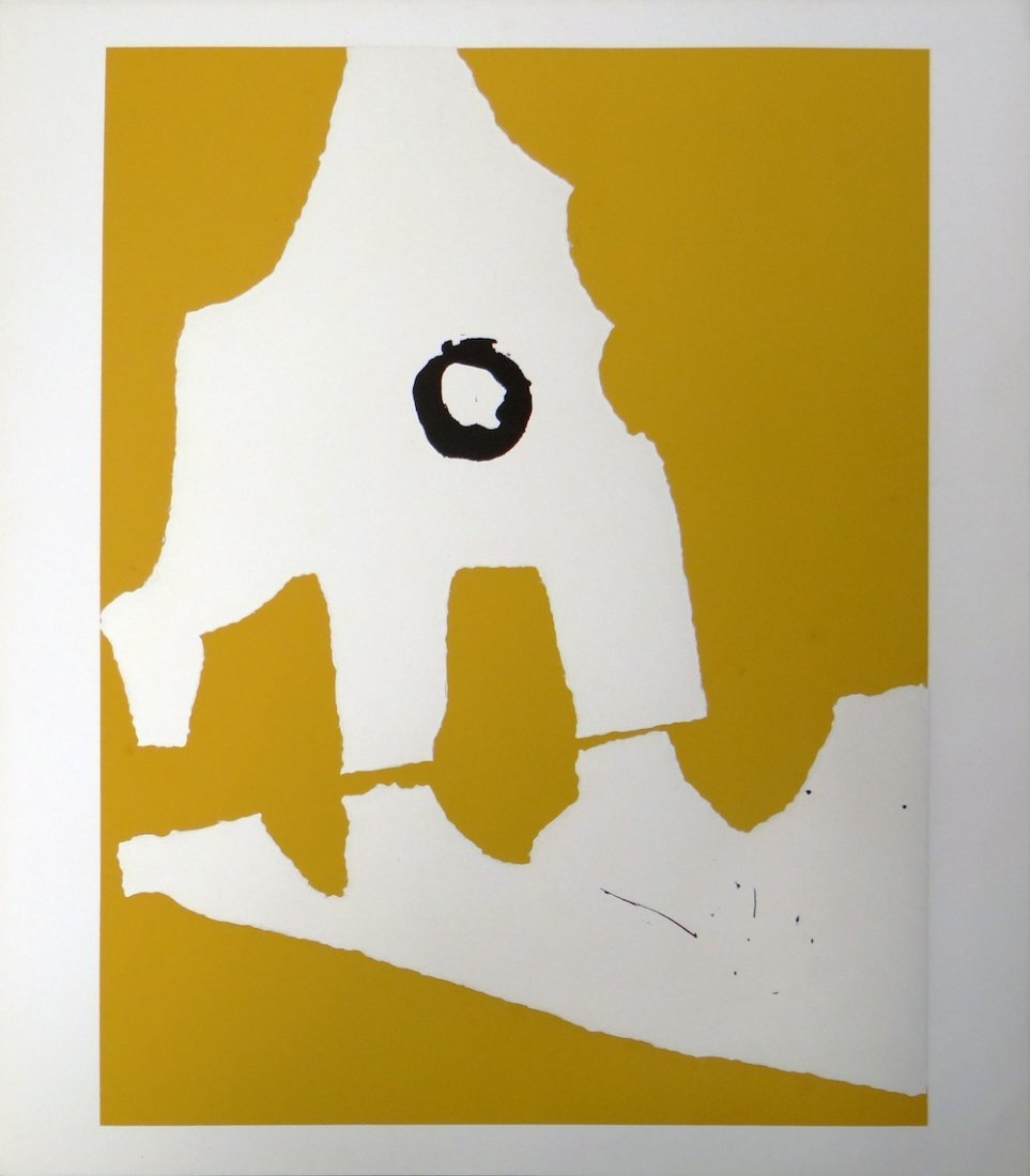 Robert Motherwell Untitled serigraph from Ten Works by