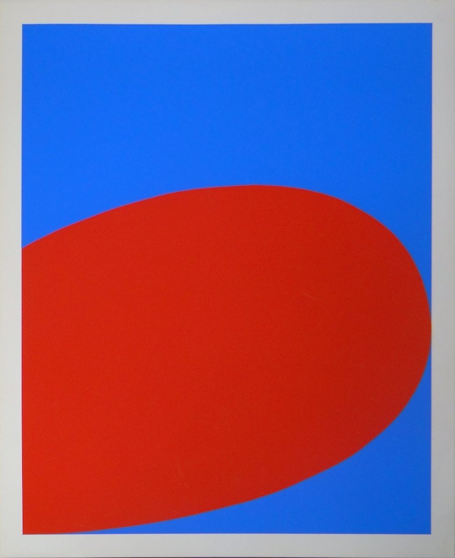 Ellsworth Kelly Untitled serigraph from Ten Works by Te