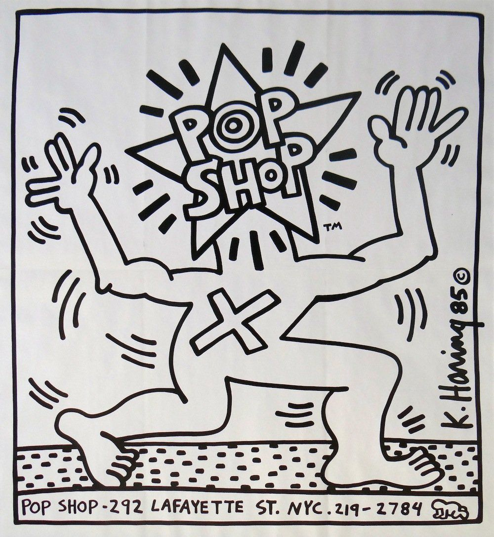 Keith Haring Pop Shop original lithographic poster