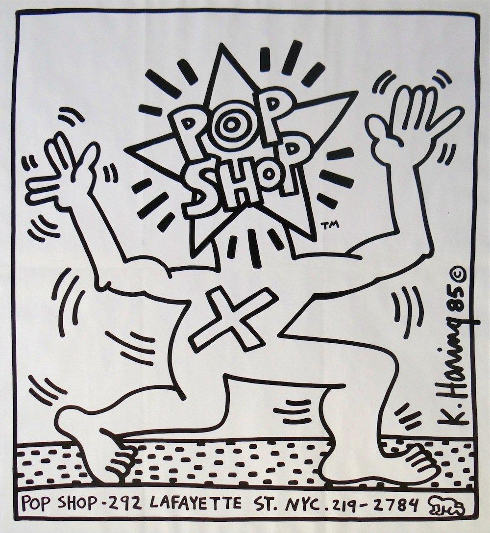 Haring Pop Shop original lithographic poster