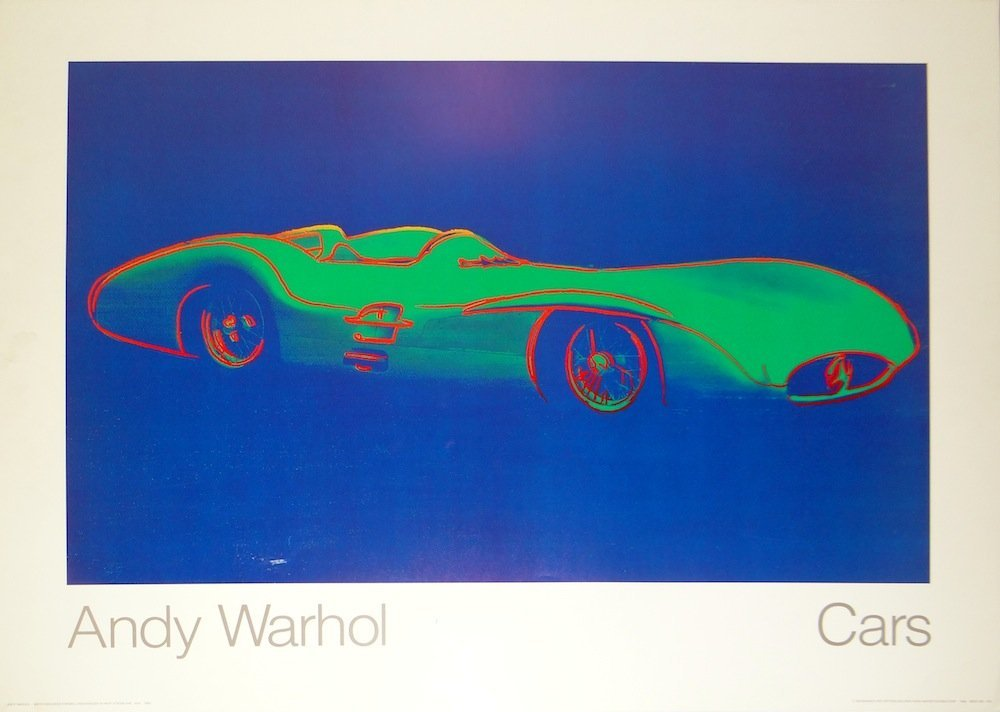 """Andy Warhol """"Mercedes Benz W-196-R"""" poster"""