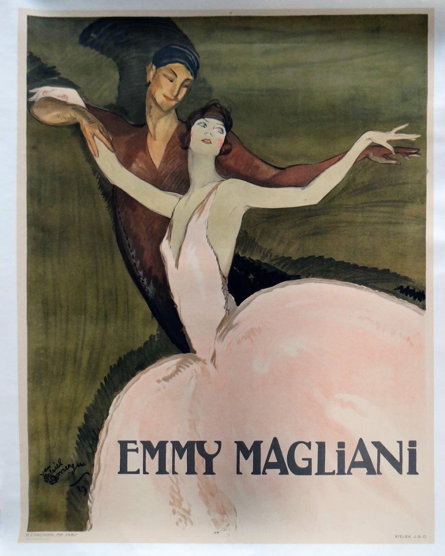 "June Gabriel Domergue ""Emmy Magliani"" Rive Gauche Litho"