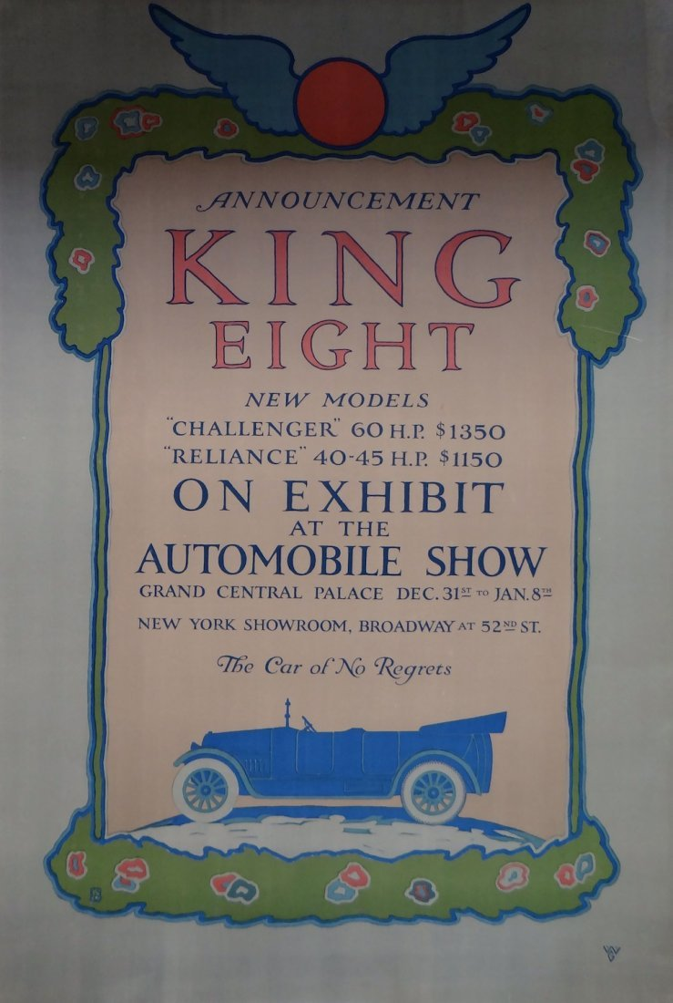 """""""King Eight"""" vintage poster 1910"""