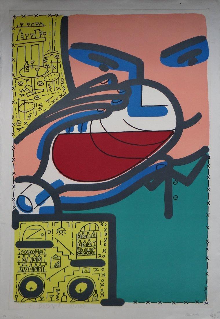 """Francois Boisrand """"Willi's Wine Bar"""" poster"""