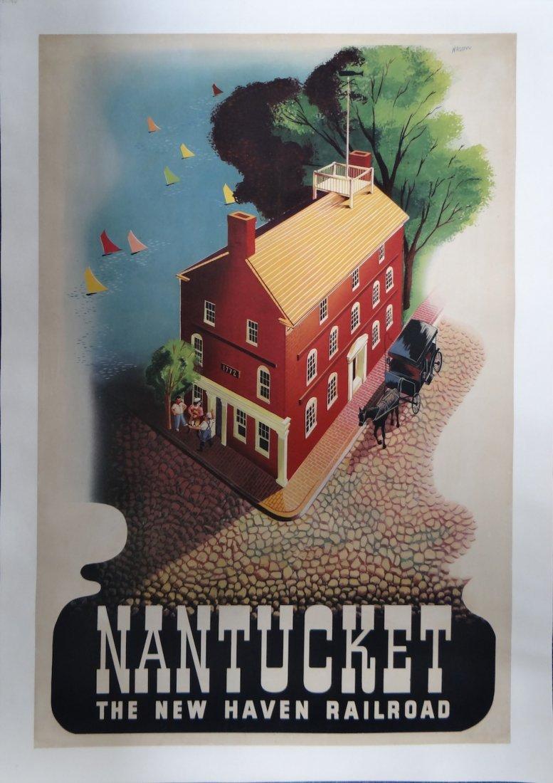 "Ben Nason ""Nantucket"" Vintage poster c1945"