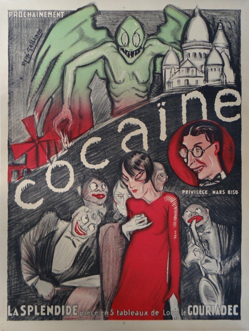 "Rene Gaillard ""Cocaine"" vintage poster 1920's"