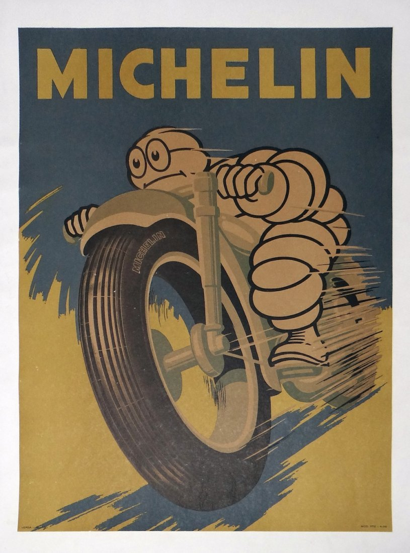 Michelin Motorcycle vintage poster 1959