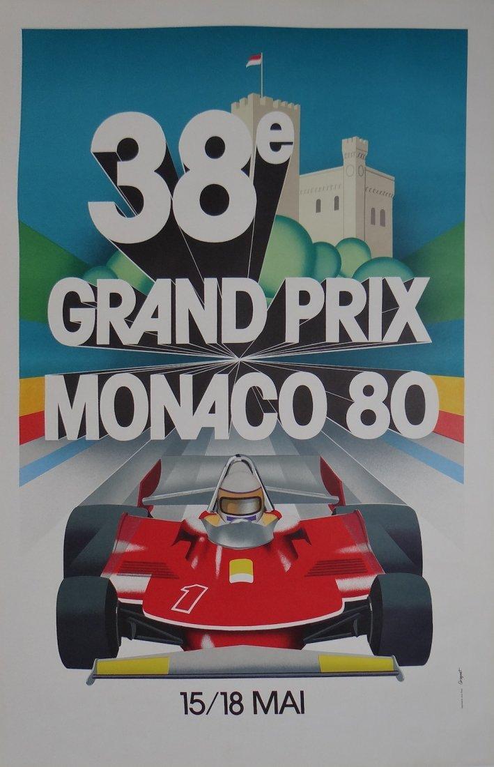 Grognet 1980 Monaco Grand Prix vintage poster