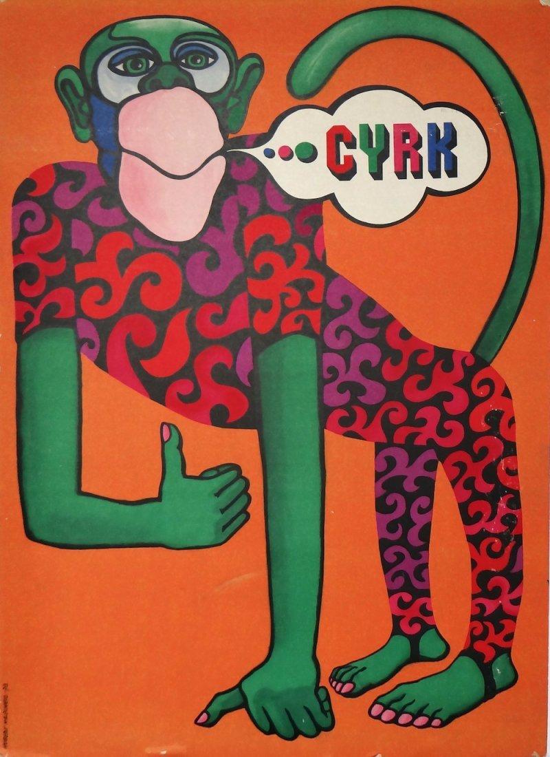 """Hubert Hilscher """"CYRK"""" vintage poster"""