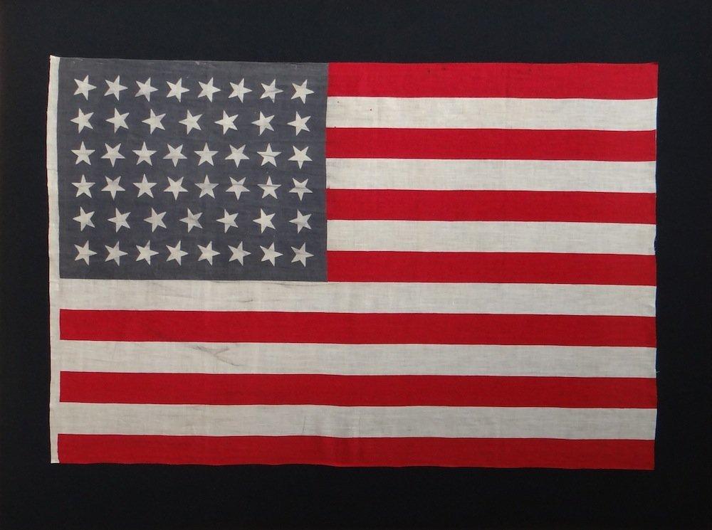 Utah Statehood American Flag c.1896-1907