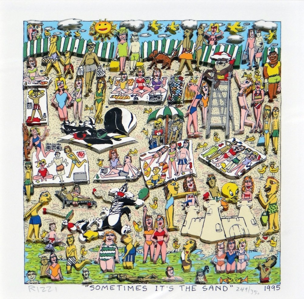 """James Rizzi """"Sometimes It's the Sand"""""""